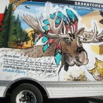 """Marty Moose"" Uhaul truck"
